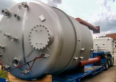 Vorlagebehälter Durchmesser 3.000mm aus 1.4571