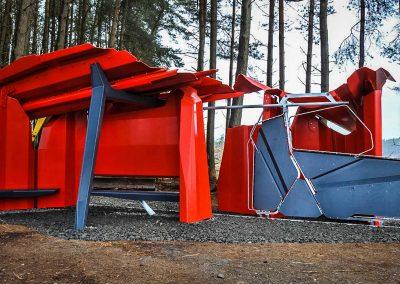 Kielder Shelter installiert am Standort in Schottland
